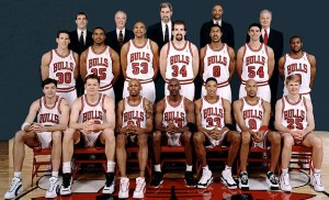 Chicago Bulls Team Photo 1995-1996