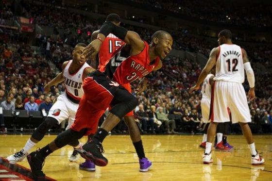 """Terrence Ross in the Air Jordan 7 """"Raptors"""""""