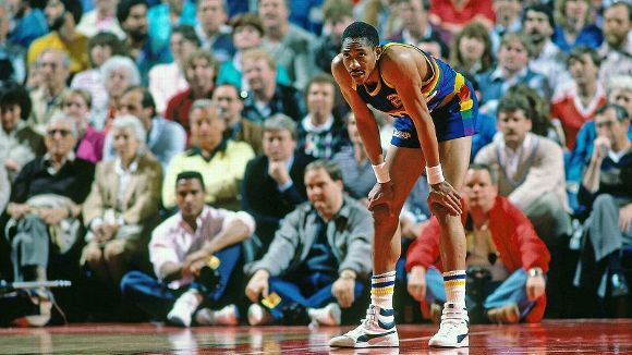 Alex English's in the PUMA Sky Hi via of SI