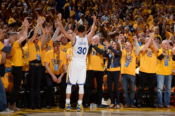 Stephen Curry wearing the Under Armour Curry One