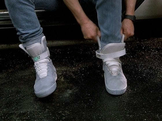 Michael J Fox and his self-lacing Nike Ari Mags from Back To The Future II
