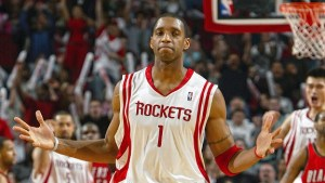 Tracy McGrady scores 13 points in 33 seconds.
