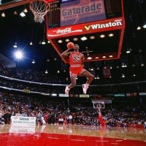 Michael Jordan Photos Free Throw Line Dunk in Air Jordan 3