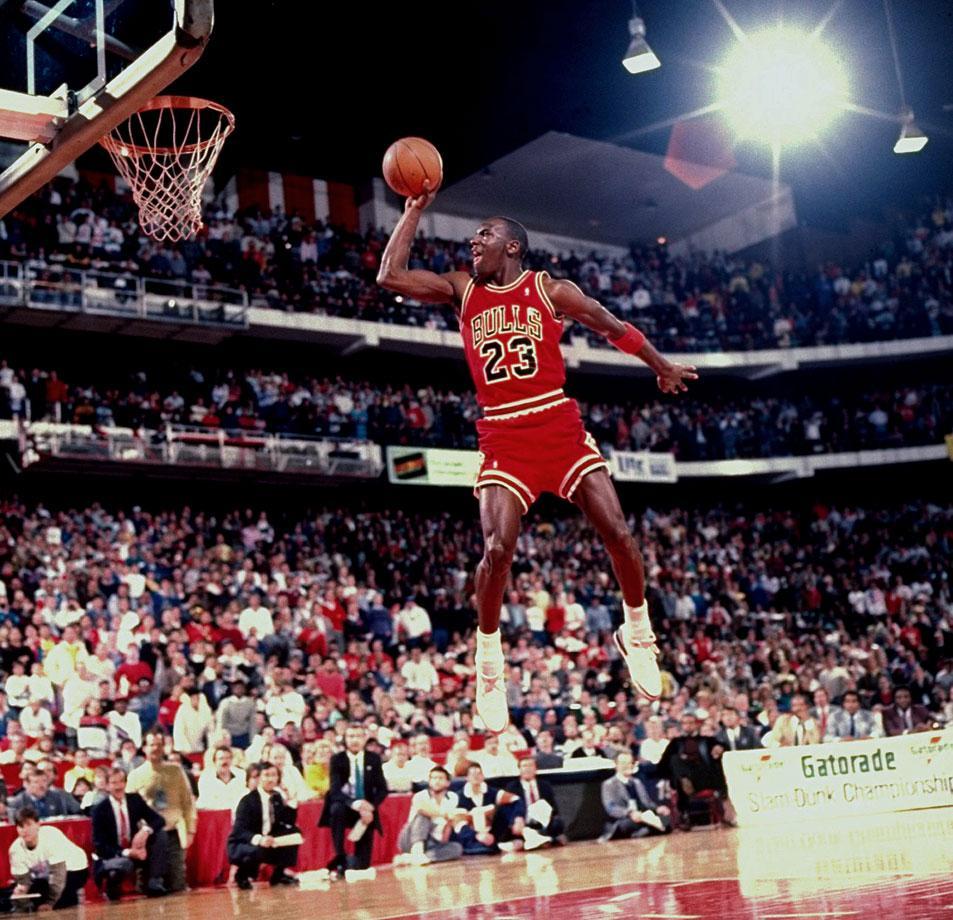 Michael Jordan Photos Free Throw Line Dunk In Air 3