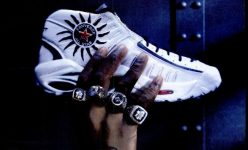 Converse All-Star Rodman 4 Championship Rings Ad, 1997.