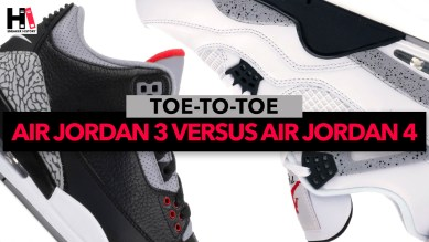 Toe-to-Toe Face-Off: Jordan 3 Versus Jordan 4. Which is the better sneaker? Which has better colorways? Which has better exclusives?
